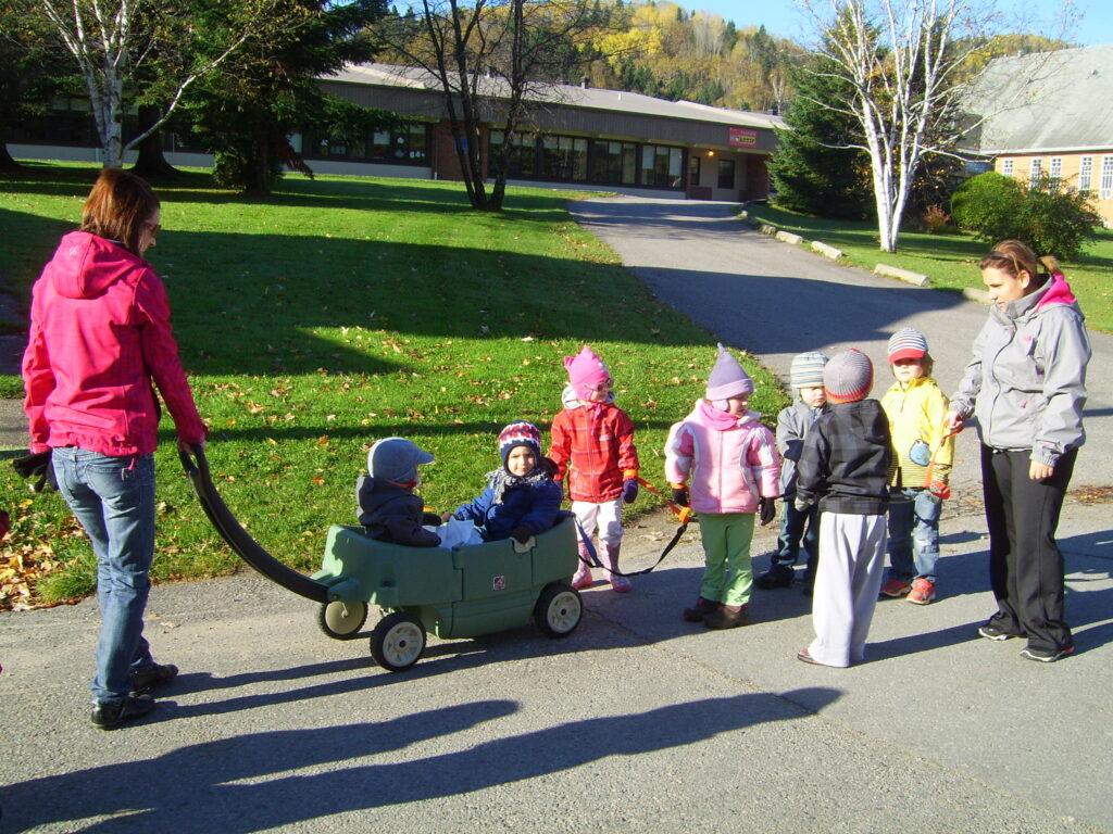 Les élèves du CPE en sortie automnale