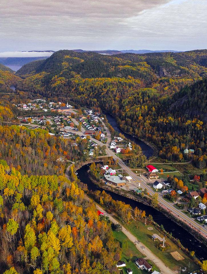 Vue du village de Petit-Saguenay